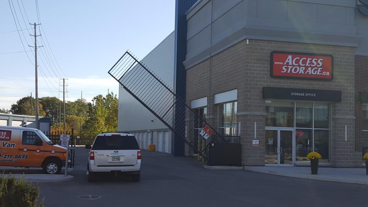 Vertical Pivot Gate at Access Storage in Canada