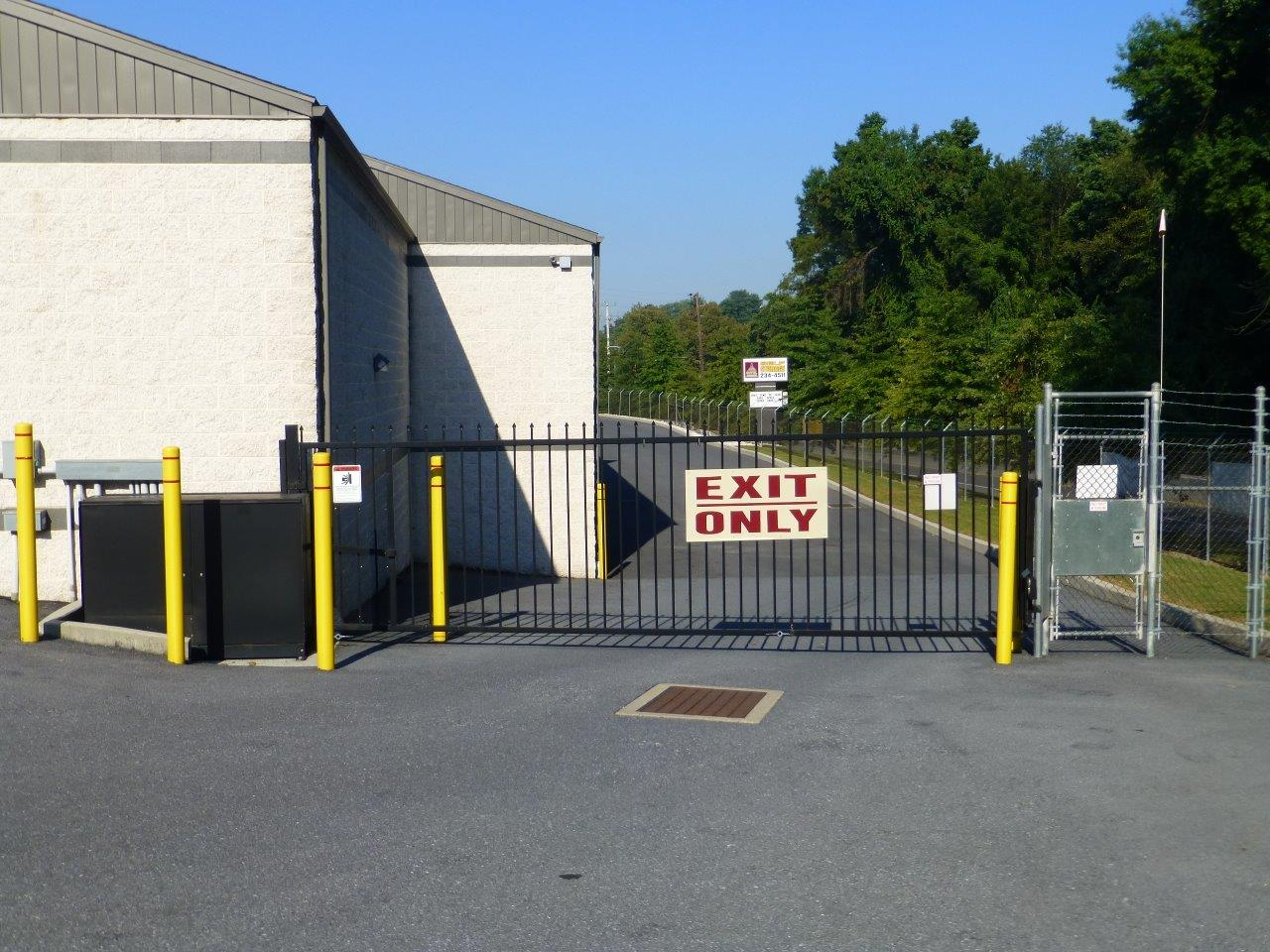 Vertical Pivot Exit Gate at Capital Self Storage