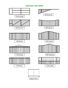 GATE STYLES DRAWINGS