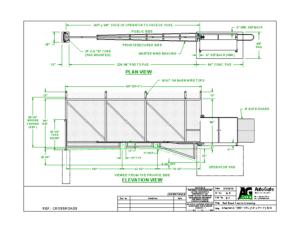 VERTICAL PIVOT GATE CUSTOM DRAWINGS | AutoGate