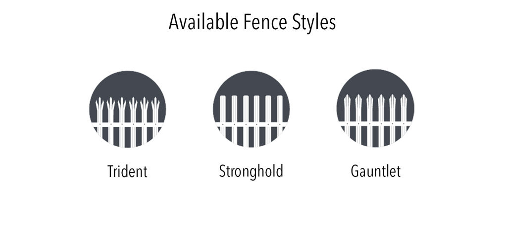 Impasse Available fence styles