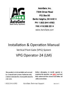 VPG 24 I & O Manual-Liftmaster