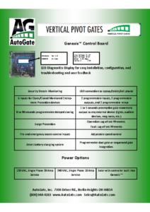 Genesis Info Sheet