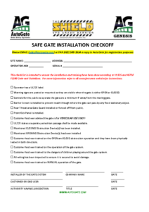 Gate Installation Checklist