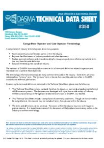 Gate Terminology TDS350