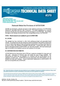 Understanding ASTM F2200