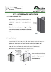 Gate Guard Installation #TD-0006 9-11-2020
