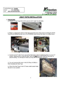 Heat Tape Installation Instructions