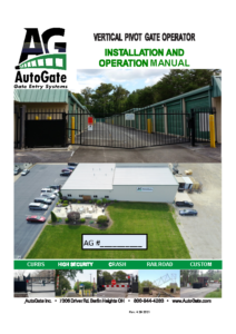 AutoGate VPG2490 I&O Ver. 2.86 Manual